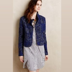 Anthropologie Knitted & Knotted Floral Cardigan